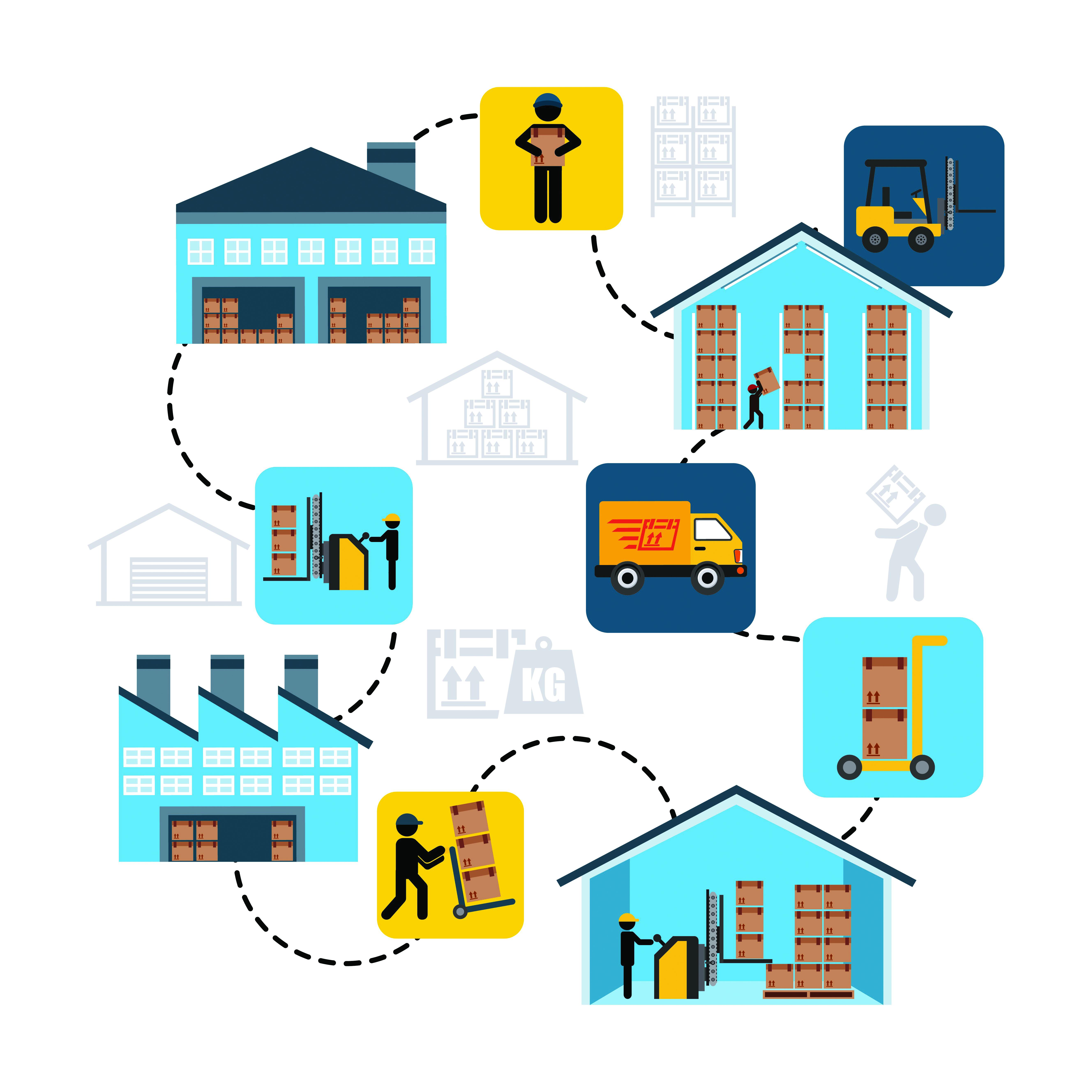 warehouse design, vector illustration eps10 graphic
